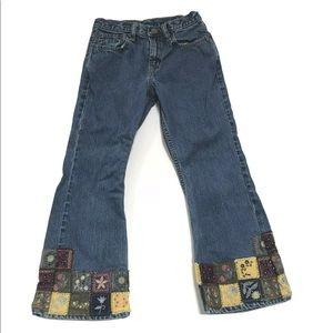 Vintage 90s Y2K Gap Girl Patchwork Boho Jeans 6